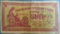 Billete de 1 peseta de 1938 (Consejo de Asturias y León) - MBC