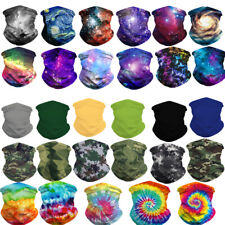 UV Protection Tube Mask Washable Face Cover Neck Gaiter Outdoor Sports Men Women
