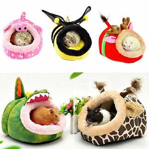 Winter Fleece Guinea Pig Bed House Soft Pet Hamster Rat Hammock Pad Cage Nest
