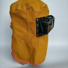Leather Hood Welding Masks Eyes Face Protection With Clear Lenses