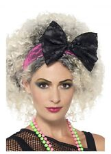 1980s Lace Headband With Bow | Pop Diva 80s Wild Child Costume Access