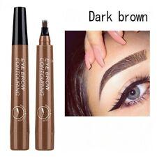 Liquid Eyebrow Pencil 4 fork Waterproof Microblanding tattoo Dark brown Ink pen