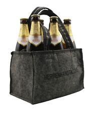 Herrenhandtasche Bier Männerhandtasche aus Filz mit 6 Fächern für Bierflaschen