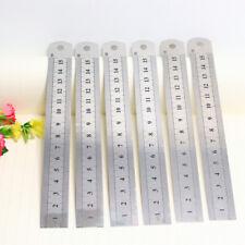 """1PC 6"""" 15cm 150mm Stainless Steel Ruler Metal Rule Metric Imperial"""