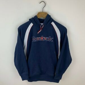 Vintage Reebok Spellout Embroidered Hoodie Size Men's Small