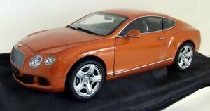Minichamps 1/18 scale 100 139921 Bentley Continental GT 2001 Orange metallic