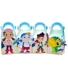 4x Jake Neverland Pirates Lolly Loot Bag Box Party Supplies Bunting Cake Banner