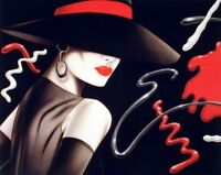 Le Chapeau Exotic Woman Michael Woodard Vogue Fine Wall Decor Art Print (16x20)