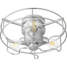 New Quorum 1905-9 Windmill Fan Light Kit Galvanized Steel 3 Light Farmhouse