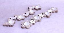 Teelichthalter Kerzenständer Blume Schmetterling 2er Set Landhaus Shabby 50 cm