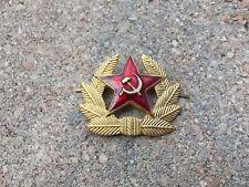 Soviet Union Army Communist Red Star Cap Hat Badge Military USSR
