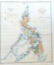PHILIPPINE ISLANDS - GENERAL  1899 Original Antique Map