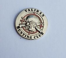 Taliban Skull Hunting Club Silver Colour Badge Enamel Pin Badge Oi! Anti Taliban