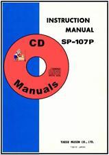 Yaesu SP-107P Speaker-Ph Patch CD OWNER'S MANUAL+ Schematic, Radio Book