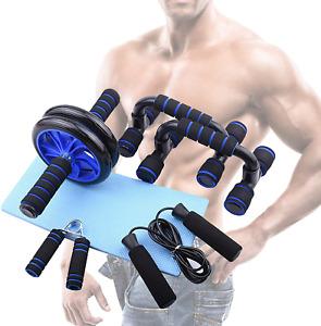 Kit Rouleau Roue 5 En 1 Presse Abdominale Appareil Entretien Muscle Equipement
