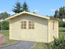 34 mm Gartenhaus + Fußboden 400x300 cm Gerätehaus Blockhaus Holz Hütte Schuppen