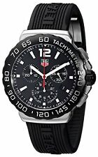 TAG Heuer Men's CAU1110.FT6024 Formula 1 Black Dial Black Rubber Strap Quartz...