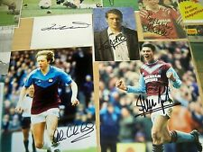 West Ham 25 Signed rare photos & images Foe Allison Jones Berkovic Dowie Ludo