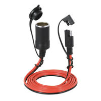 12V 20A SAE Car Cigarette Lighter Charger Waterproof 2 Pin Adapter Cable B8M8