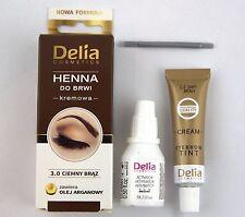 Delia Henna Cream Eyebrow with Argan Oil BLACK / DARK BROWN  to choose