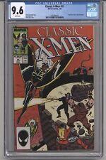 CLASSIC XMEN #11 CGC 9.6 WPGS BOLTON PINUP, CLAREMONT STORY, BOLTON ART  1987