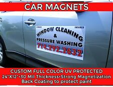 Car door Magnets (Two) with Custom Graphics High Quality Door Sign