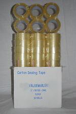12 Rolls Clear 2ml Box Carton Sealing Tape 2x110 Yards