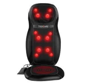 TISSCARE Shiatsu Back Massager Massage Chair Seat Cushion with Heat & Vibration