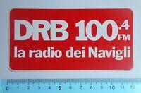 ADESIVO STICKER VINTAGE AUTOCOLLANT AUFKLEBER DRB 100.4 MILANO ANNI'80 12x6 cm