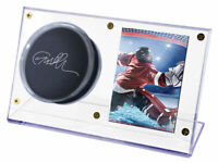 (1 NEW) Ultra Pro Acrylic Hockey Puck & Card Holder Display Case, Ultra Clear