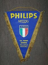 BIG SIZE 1990's PANINI MODENA VOLLEYBALL OFFICIAL GAME Pennant Streamer ITALY