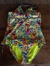 Pink Orange Blue Arizona Floral Swim Suit 2 piece size Large Cruise Attire