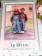 K.P. Kids & Co Barnyard Overalls Szs 2-6 Sewing Pattern + Wall hangings UNCUT FF