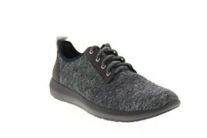Earth Boomer Womens Gray Canvas Lace Up Lifestyle Sneakers Shoes