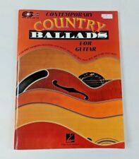 Contemporary Country Ballads for Guitar 15 Songs Unmarked Like New
