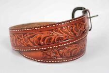 Western Cowboy Cowgirl Style Cowhide Brown Belt Size 32 Boho