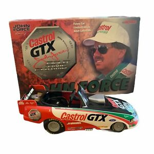 1999 John Force Castrol GTX Mustang Funny Car 1:24 Color Chrome 8 Time Champ