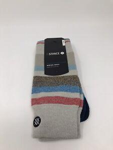 STANCE Merino Wool Blend Men's 'Rivers' Snowboard Socks - MEDIUM (6-8.5) - NEW!