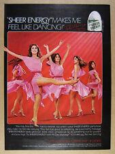 1981 peggy fleming photo L'eggs Leggs Sheer Energy Pantyhose vintage print Ad