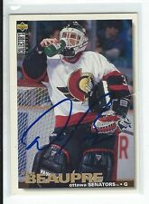 Don Beaupre Signed 1995/96 Upper Deck Collectors Choice Card #11