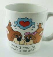 Loving You Is What I Do Best Coffee Cup Mug Russ Berrie Dogs Love Valentine Gift