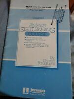 THE JENSON SIGHT SINGING COURSE VOL 1  by BAUGUESS SHEET MUSIC LESSON BOOK