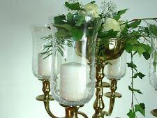 Glasaufsatz 18cm Crackle Kerzenleuchter Kerzenständer Teelichtaufsatz Partylicht
