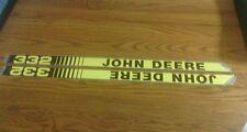 John Deere New 332 Hood Decals