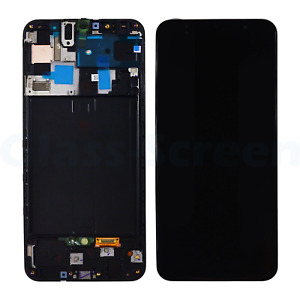 Samsung Galaxy A50 2019 A505F OLED LCD Screen Digitizer Frame Black High Quality