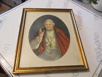 Vecchio Peinture Papa Giovanni 23° ( Papa Bon ) 26 CM X 31 CM