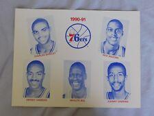 1990-91 Philadelphia 76ers 8.5x11 Photo Card Charles Barkley
