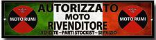 MOTO Rumi Autorizado MOTO DEALER Metal Señal , Clásico ITALIANA Motocicletas