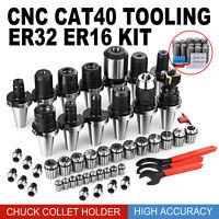 CAT 40 Tooling Kit for Haas Fadal CNC Mill-ER Chuck Collet Holder ER32/16 New