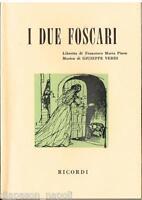 Verdi: I Due Foscari - Libretto Ricordi
